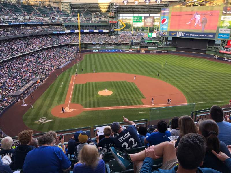 Seating view for Miller Park Section 417 Row 6 Seat 5