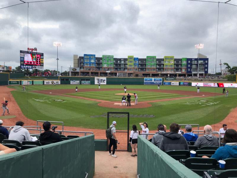 Seating view for Cooley Law School Stadium Section H Row 13 Seat 6