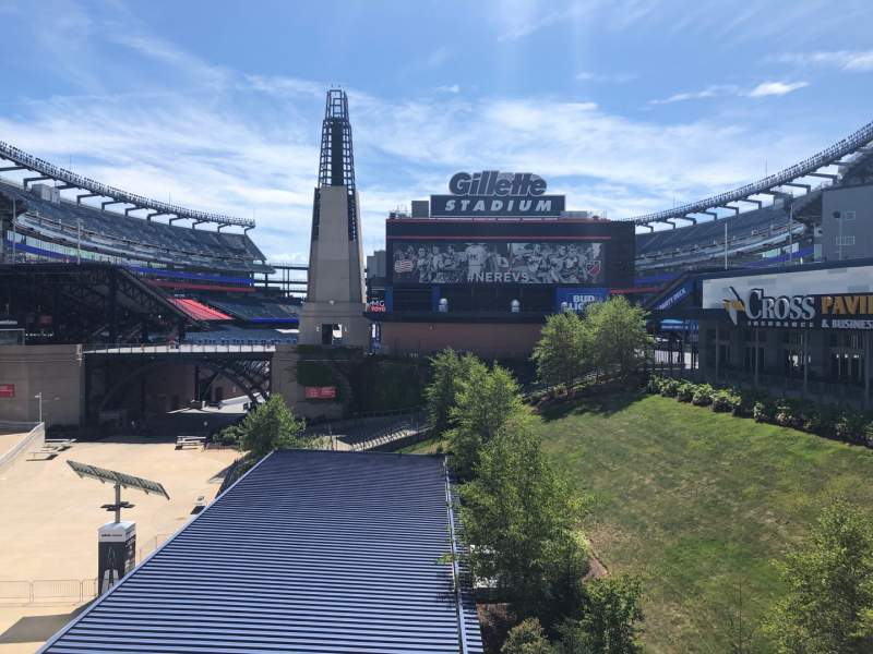 Seating view for Gillette Stadium Section Exterior