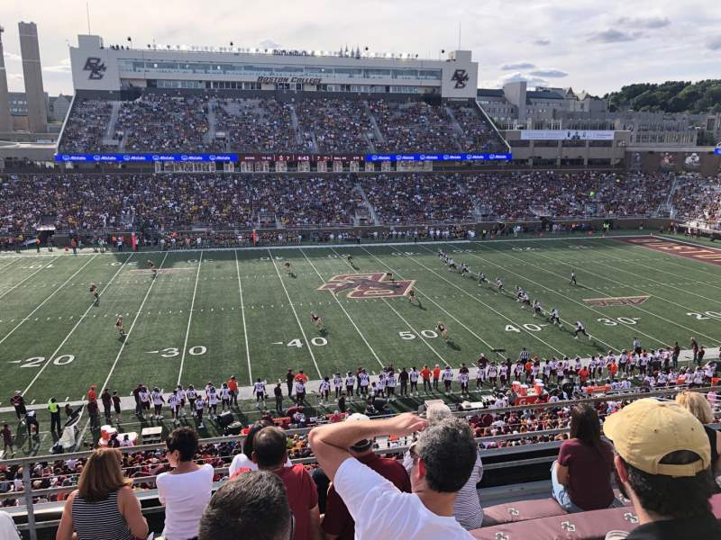 Seating view for Alumni Stadium Section QQ Row 7 Seat 18