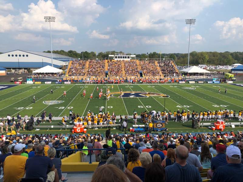 Seating view for Dix Stadium Section 4 Row 19 Seat 1