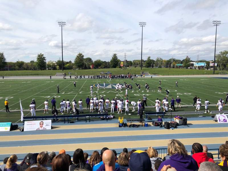 Seating view for Alumni Field at University of Windsor Stadium Section F Row JJ Seat 5