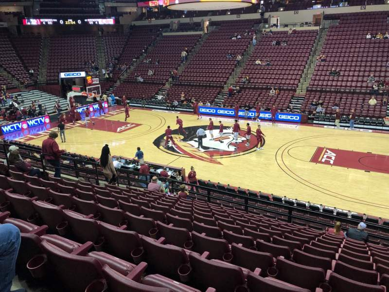 Seating view for Donald L. Tucker Center Section 102 Row D Seat 3