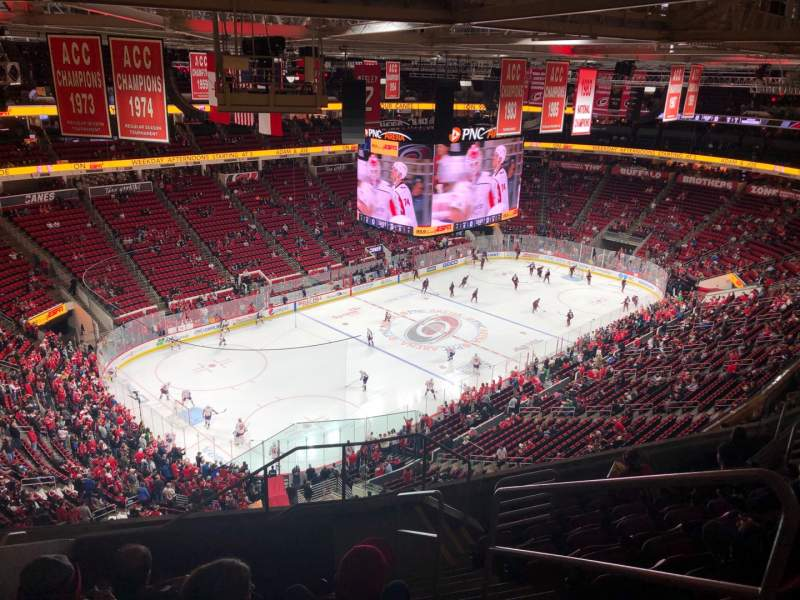 Seating view for PNC Arena Section 329 Row J Seat 2