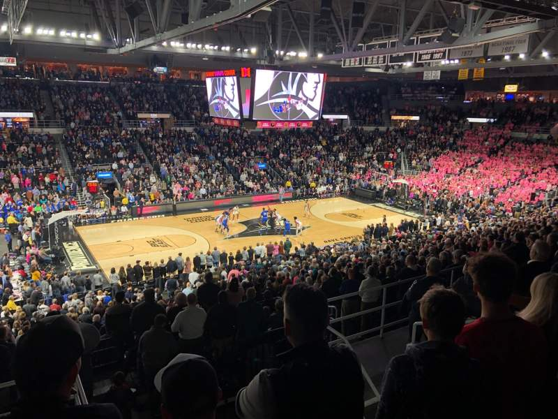 Seating view for Dunkin' Donuts Center Section 213 Row G Seat 12