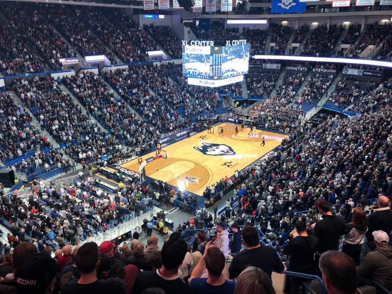 Seating view for XL Center Section 232 Row L Seat 3