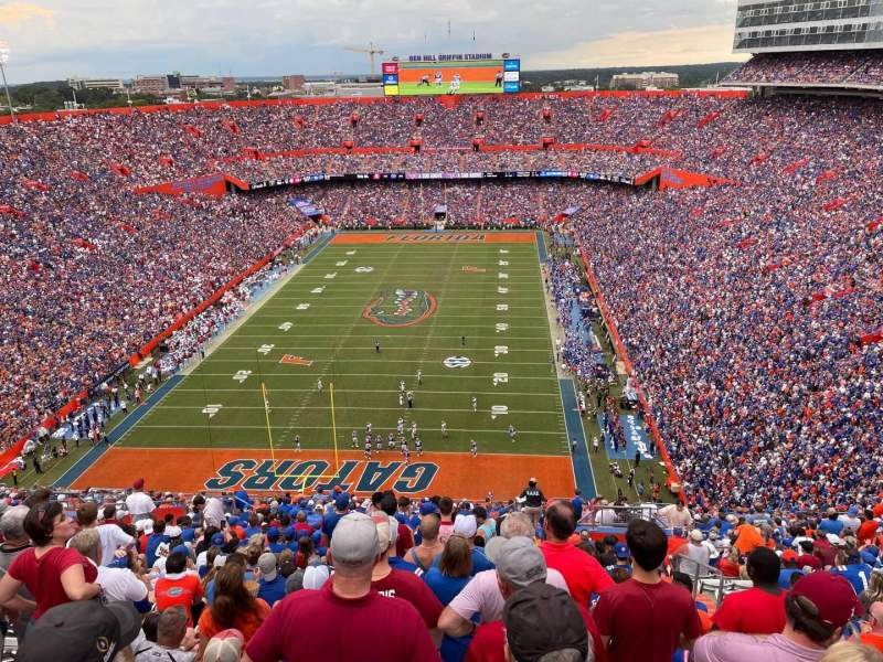 Seating view for Ben Hill Griffin Stadium Section 322 Row 20 Seat 9