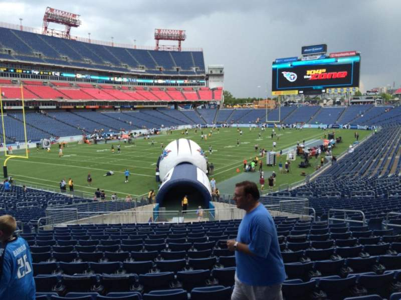 Seating view for Nissan Stadium Section 142 Row LL Seat 10