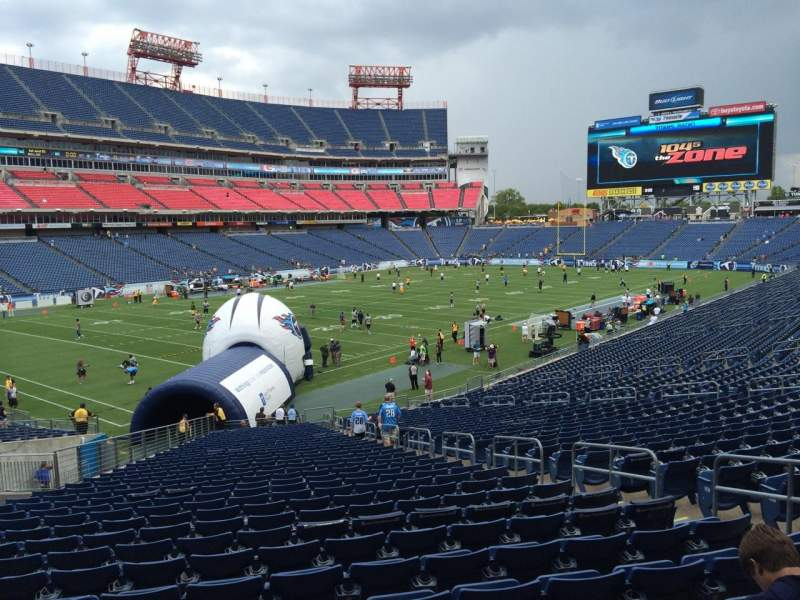 Seating view for Nissan Stadium Section 141 Row LL Seat 8