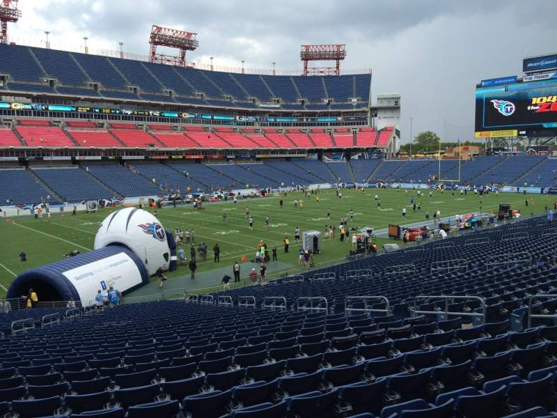 Seating view for Nissan Stadium Section 140 Row LL Seat 11