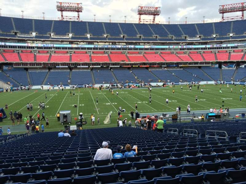 Seating view for Nissan Stadium Section 137 Row LL Seat 12