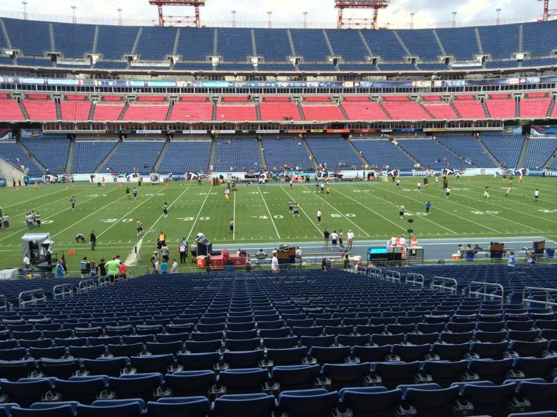 Seating view for Nissan Stadium Section 136 Row LL Seat 13