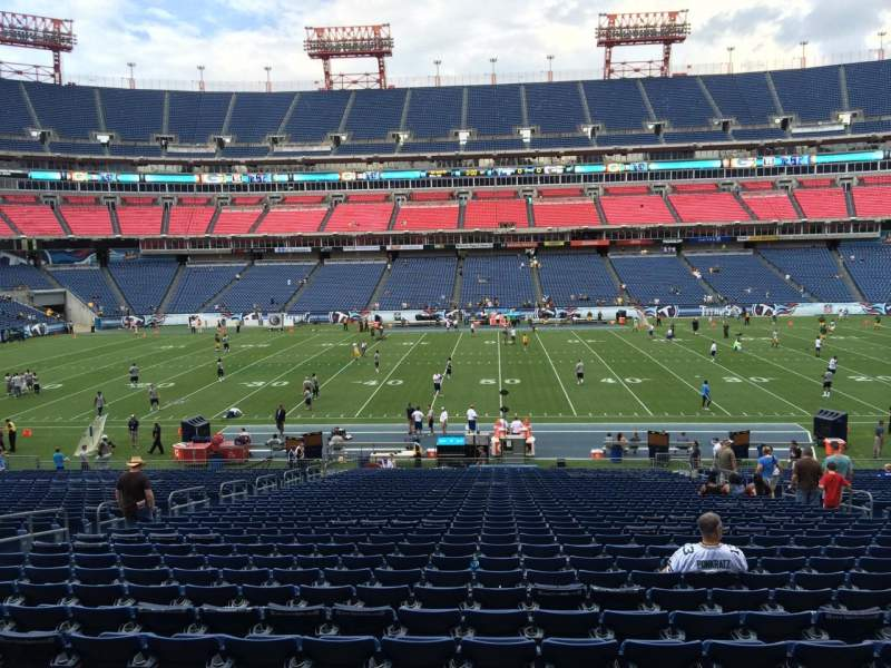 Seating view for Nissan Stadium Section 135 Row LL Seat 13