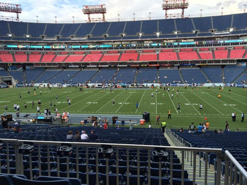 Seating view for Nissan Stadium Section 134 Row HH Seat 1