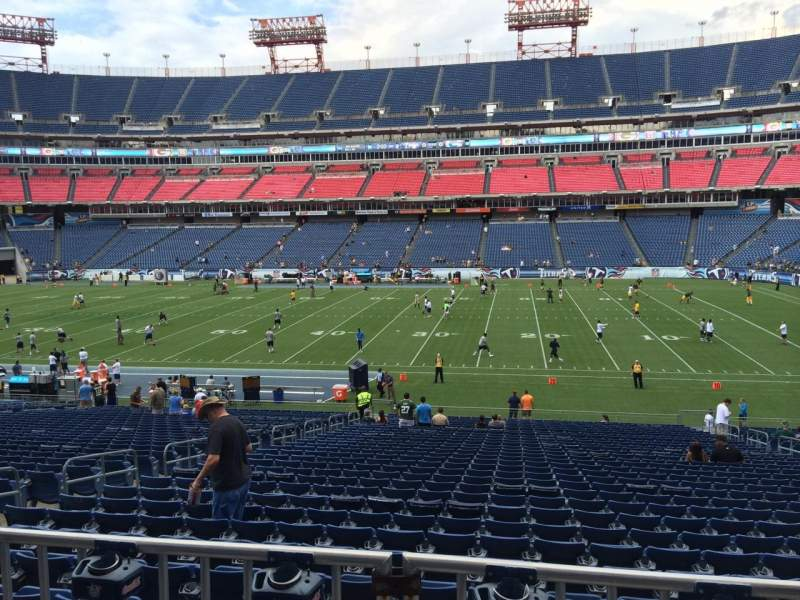 Seating view for Nissan Stadium Section 133 Row HH Seat 10