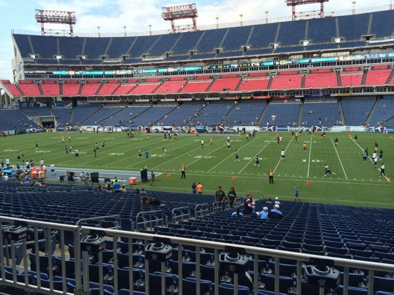Seating view for Nissan Stadium Section 132 Row HH Seat 18