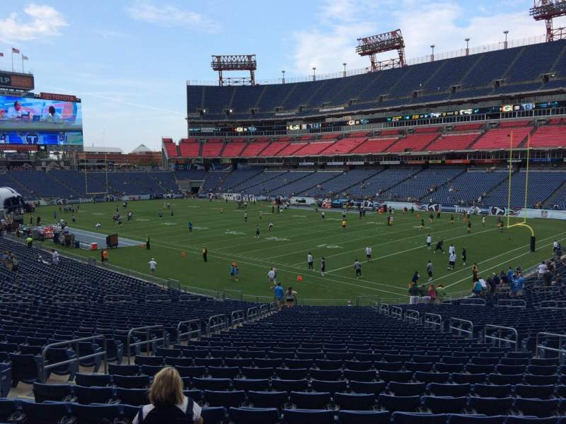 Seating view for Nissan Stadium Section 129 Row LL Seat 10