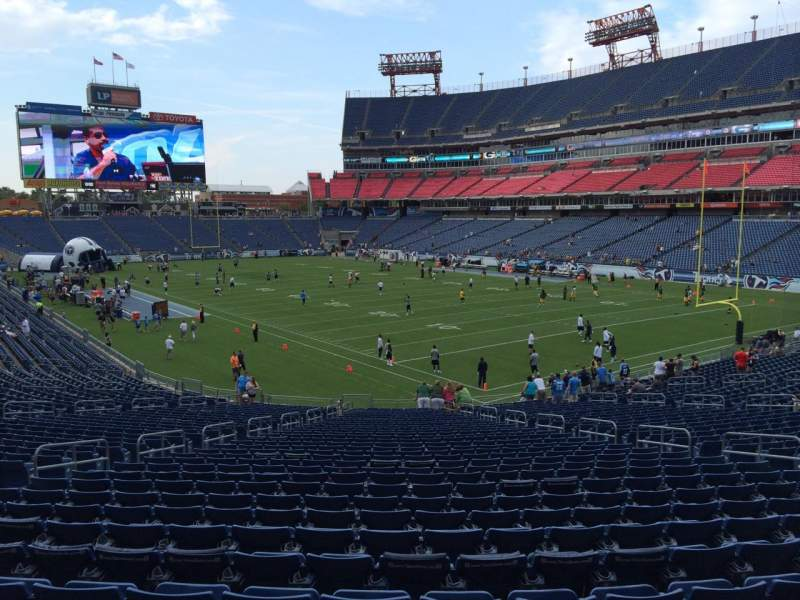 Seating view for Nissan Stadium Section 128 Row LL Seat 15