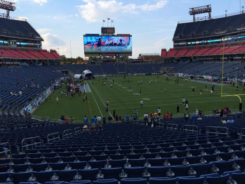 Seating view for Nissan Stadium Section 126 Row LL Seat 10