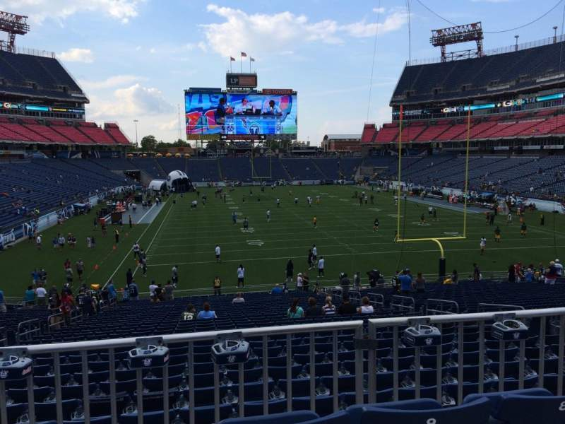 Seating view for Nissan Stadium Section 125 Row LL Seat 10