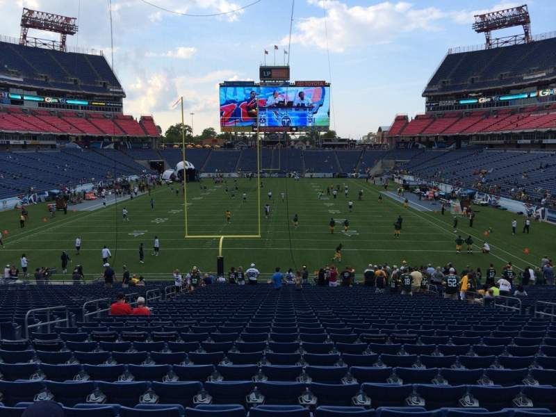 Seating view for Nissan Stadium Section 123 Row LL Seat 13