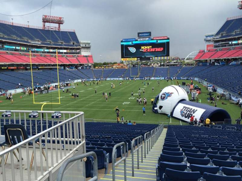 Seating view for Nissan Stadium Section 144 Row LL Seat 20