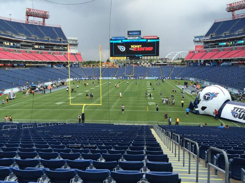 Seating view for Nissan Stadium Section 146 Row LL Seat 1