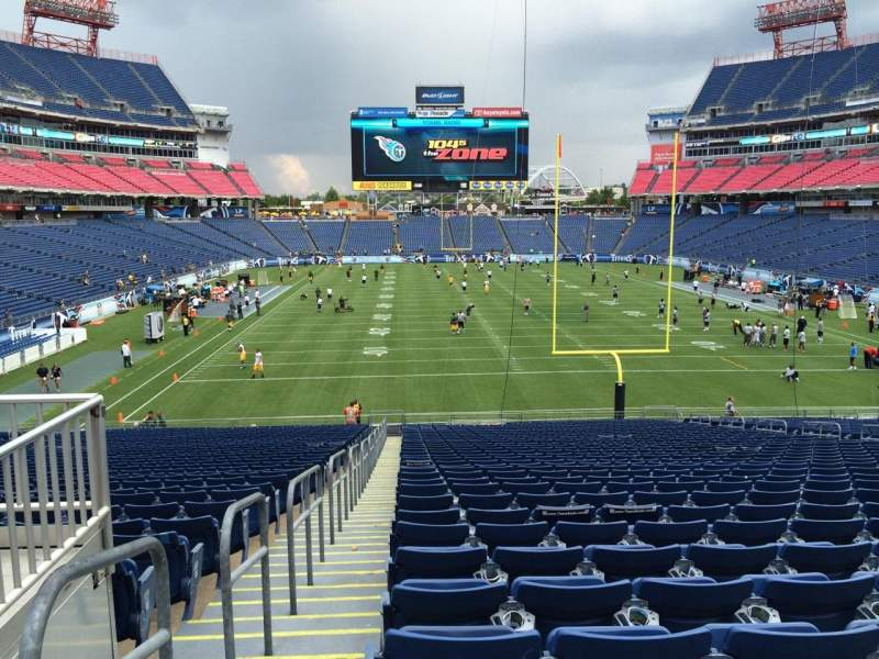 Seating view for Nissan Stadium Section 101 Row LL Seat 20