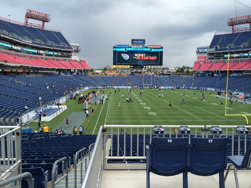Seating view for Nissan Stadium Section 102 Row SRO Behind H