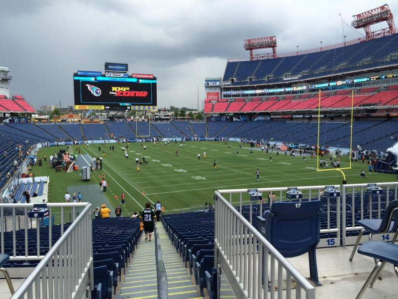 Seating view for Nissan Stadium Section 103 Row SRO