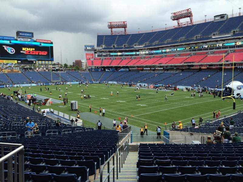 Seating view for Nissan Stadium Section 105 Row JJ Seat 24