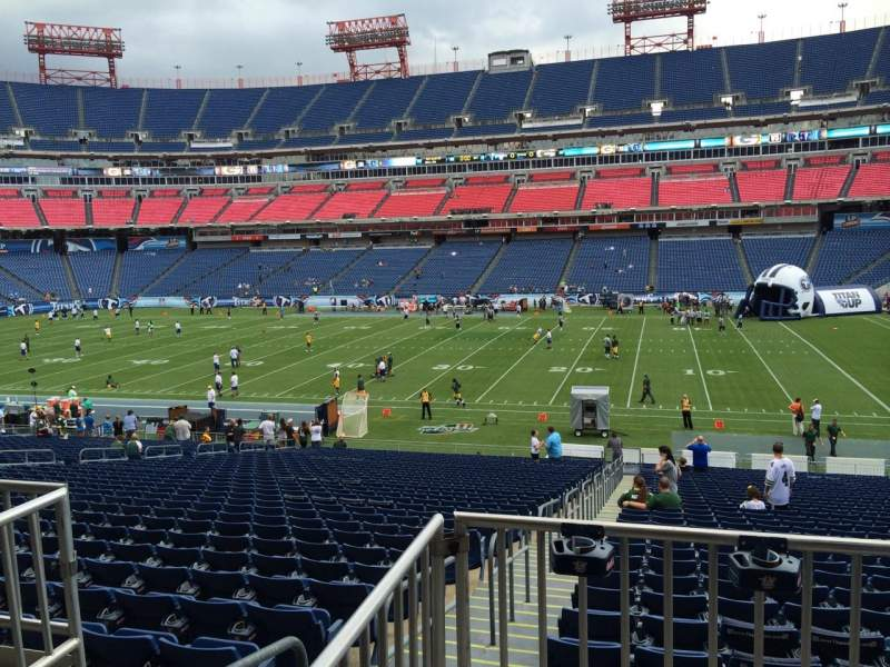 Seating view for Nissan Stadium Section 109 Row HH Seat 16