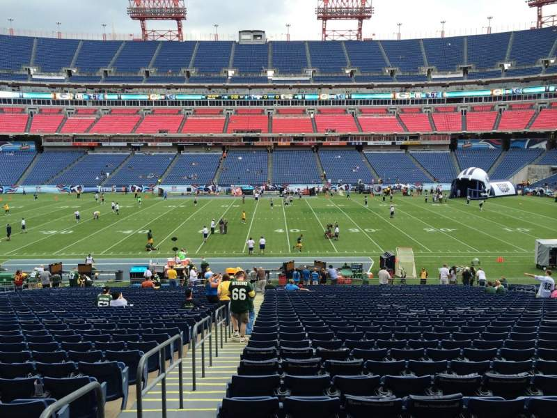 Seating view for Nissan Stadium Section 111 Row LL Seat 21