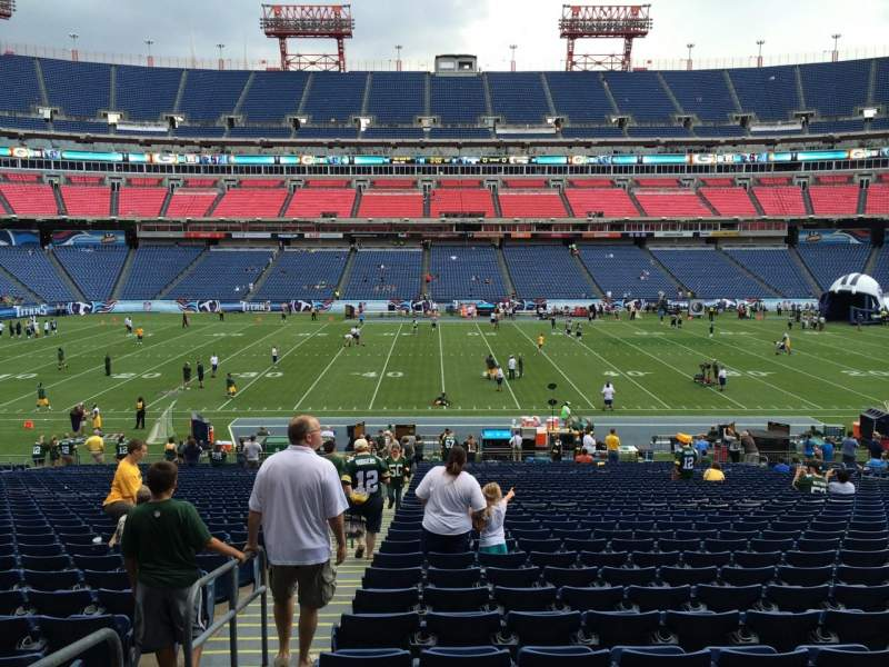 Seating view for Nissan Stadium Section 113 Row LL Seat 21