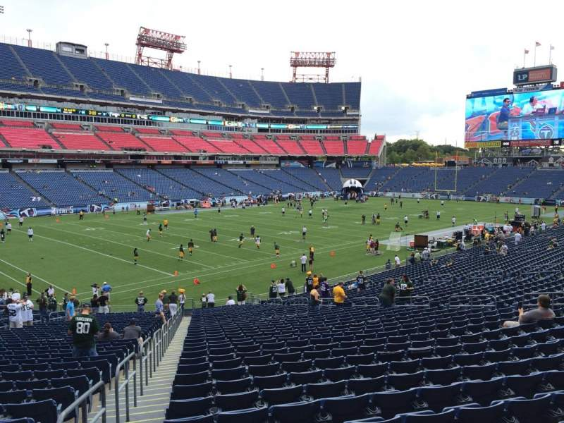 Seating view for Nissan Stadium Section 117 Row LL Seat 21