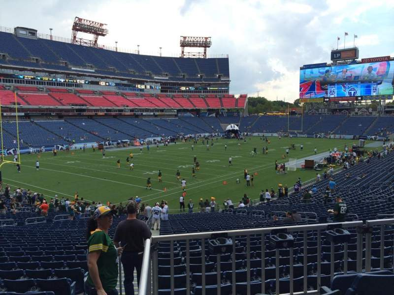 Seating view for Nissan Stadium Section 118 Row HH Seat 12