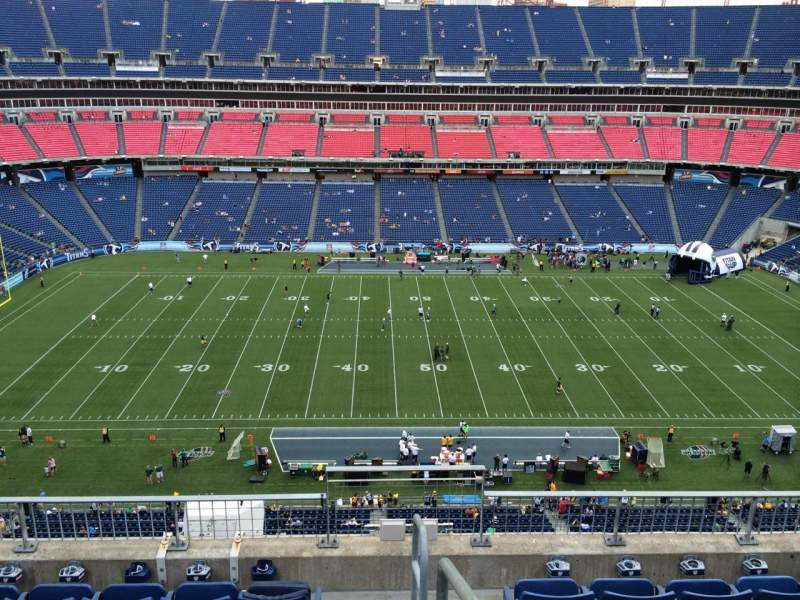 Seating view for Nissan Stadium Section 312 Row F Seat 1