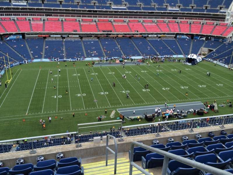 Seating view for Nissan Stadium Section 314 Row F Seat 1