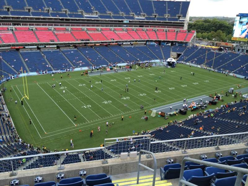 Seating view for Nissan Stadium Section 317 Row F Seat 1
