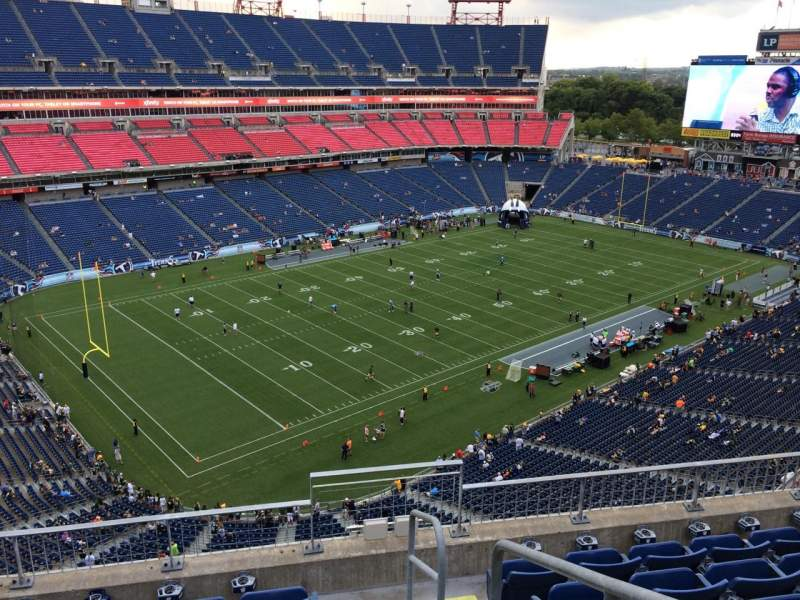 Seating view for Nissan Stadium Section 319 Row F Seat 1