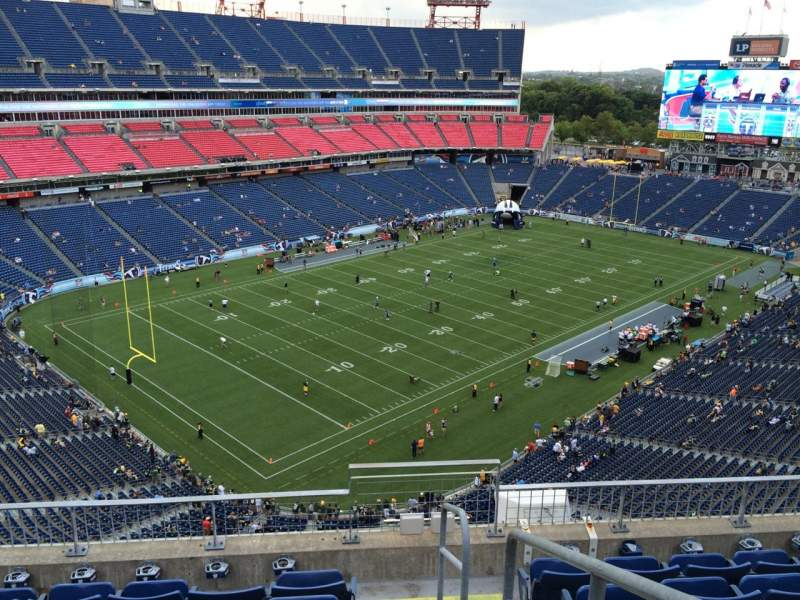 Seating view for Nissan Stadium Section 320 Row F Seat 1