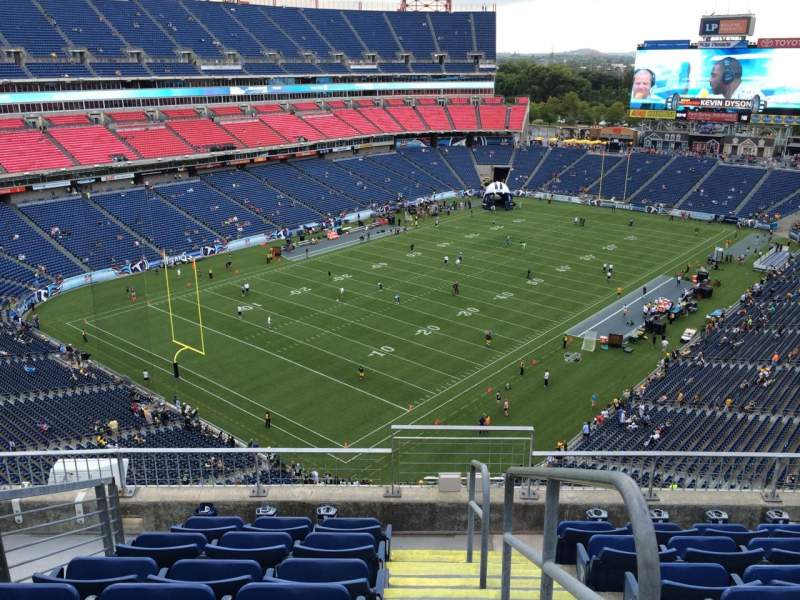 Seating view for Nissan Stadium Section 321 Row F Seat 1