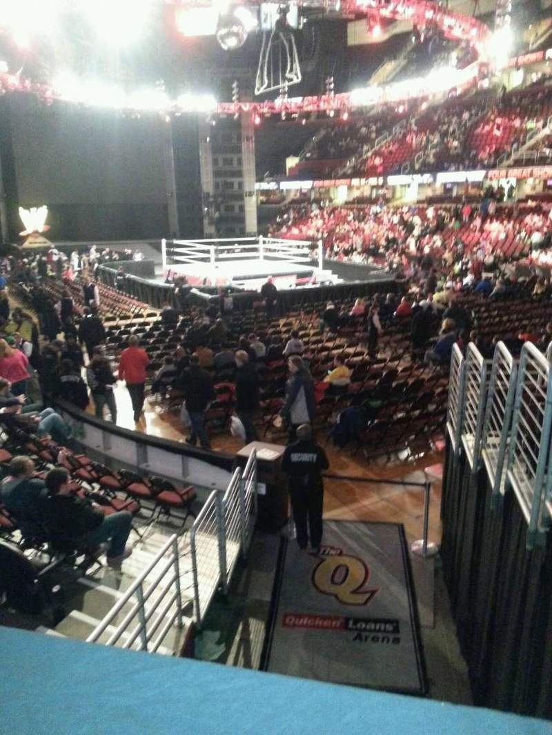 Seating view for Quicken Loans Arena Section 131 Row 9 Seat 1