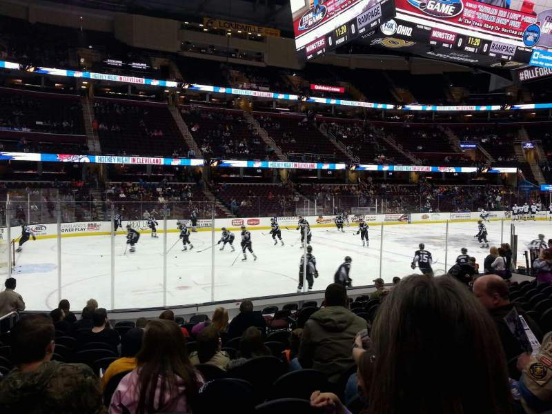 Seating view for Quicken Loans Arena Section 123 Row 13 Seat 16