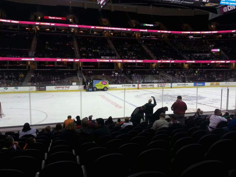 Seating view for Quicken Loans Arena Section 107 Row 13 Seat 11
