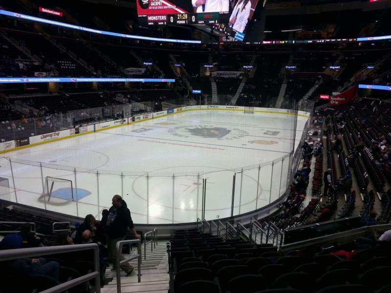 Seating view for Quicken Loans Arena Section 103 Row 16 Seat 1