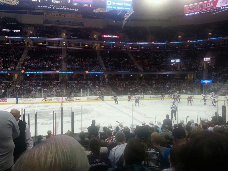 Seating view for Quicken Loans Arena Section 126 Row 13 Seat 1
