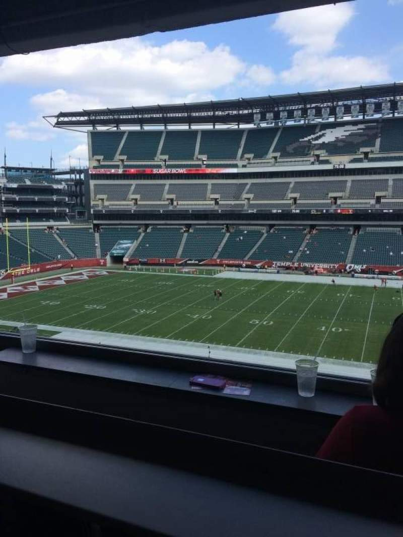 Seating view for Lincoln Financial Field Section Presidential Suite
