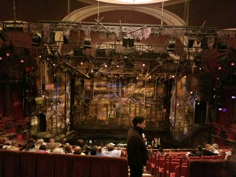 Seating view for Broadway Theatre - 53rd Street Section RMEZZ Row B Seat 107