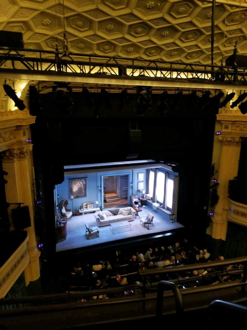 Seating view for Hudson Theatre Section Balcony L Row C Seat 1